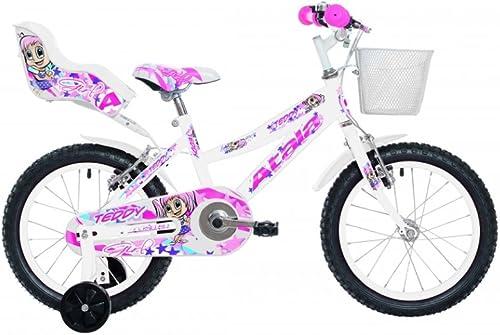 Fahrrad Kinder Atala Teddy Girl, 16, Weiß und Rosa