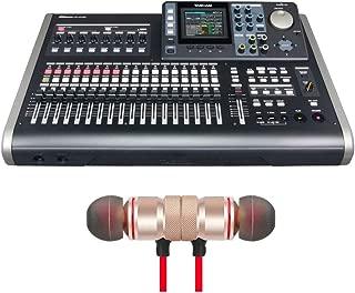 Tascam DP-24SD 24-track Digital Portastudio Includes Free Wireless Earbuds - Stereo Bluetooth In-ear Earphones