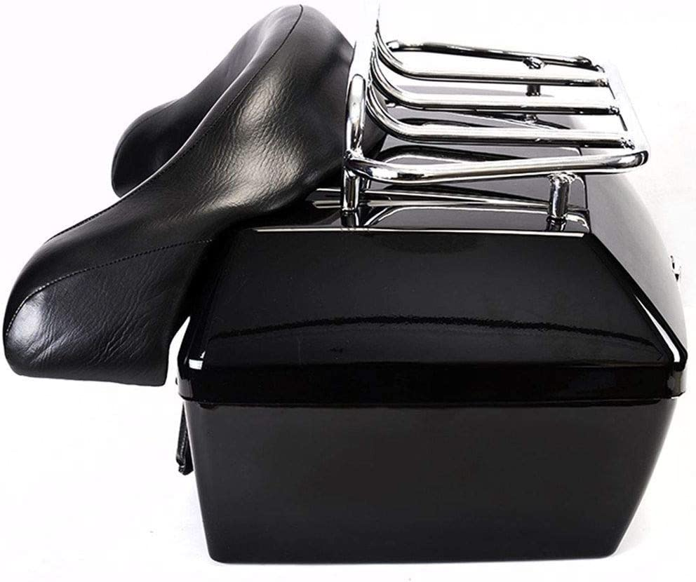 In a popularity Motorcycle Trunk Same day shipping Tail Box Luggage Case w RackBackrest Top T for