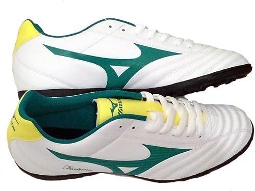 Mizuno Fortuna 4 AS P1GD158135 Chaussures de Foot Foot Foot à 5 Produit Officiel 214-2015 Blanc, Vert fda