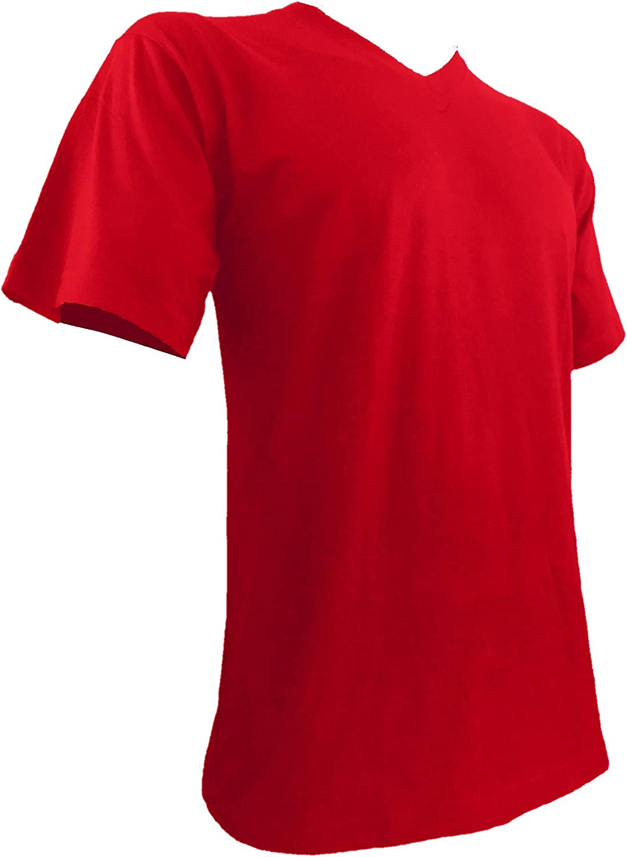 Styllion Big and Tall Men's V-Neck Shirts - Heavy Weight - Stretchable - VSS