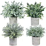 Winlyn 4 Pack Mini Potted Fake...