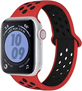Fengyiyuda Compatible Correa para Apple Watch de Reloj Deportivo 38 mm 40 mm 42 mm 44 mm, Repuesto de Silicona para Iwatch Series 5, Series 4, Series 3, Series 2, Series 1