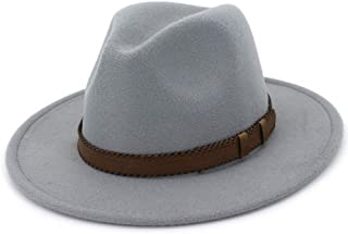 LiJuan Shen Men Women Wool Fedora Hat With Leather Belt Outdoor Casual Hat Winter Sombrero Hombre Jazz Hat