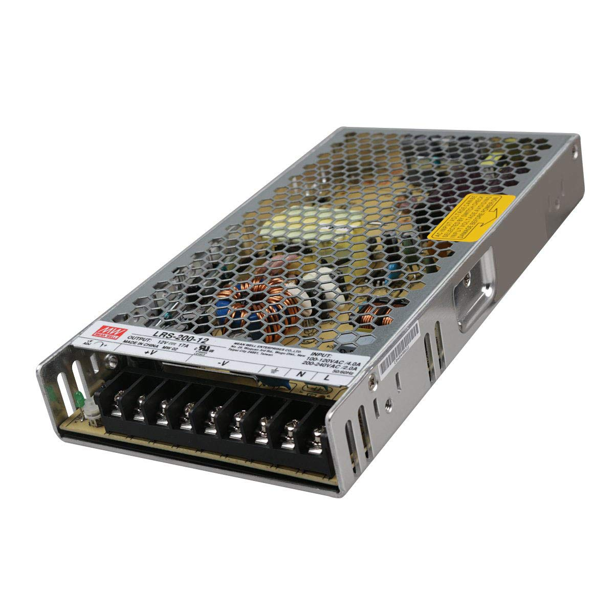 Mean Well LRS-200-12 Switching Power Supply, Single Output, 12V, 17A, 200W, 8.5