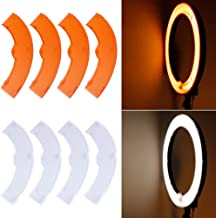 Neewer Orange and White Color Filter Set for Neewer 18 inches/48 centimeters 75W 600W 5500K Ring Light and 55W 240 Pieces LED SMD 5500K Dimmable Ring Light