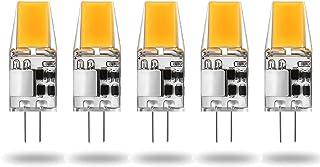 YQGOO Bombilla LED G4 5W COB, AC/DC 12V, 450LM Blanco frío (6000K) Equivalente a lámpara halógena de Repuesto de 40W 50W, no Ajustable, ángulo de Haz de 360 Grados, Paquete de 5