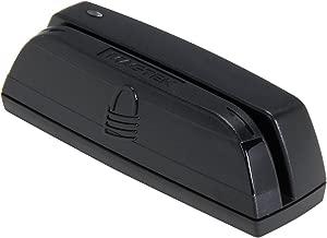 MagTek 21073062 Dynamag Magnesafe Triple Track Magnetic Stripe Swipe Reader with 6' USB Interface Cable, 5V, Black