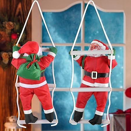 OKBY Papa Noel Navidad Exterior Balcon - Santa Decoración Escalada Juguetes De Papá El árbol Interior/Exterior Colgantes del Ornamento Invierno ...