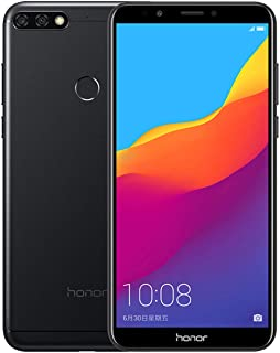 Honor 7C Dual SIM – 32GB, 3GB RAM, 4G LTE, Black
