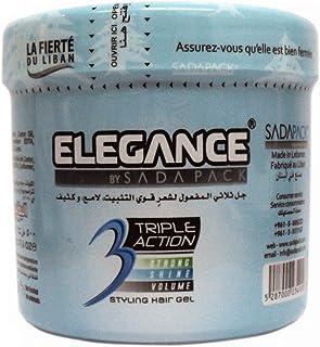 Elegance Triple Action Styling Hair Gel 500Ml - Blue [ELE-202]