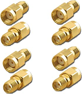 OdiySurveil (TM 8PCS RF Coaxial Coax Adapter SMA Female to RP-SMA Male Coupling Nut Connector