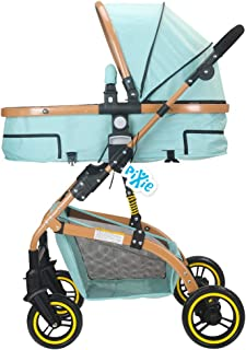 Pixie High landscape Stroller/Pram, Extra Large Seating Space, Easy Fold, for Newborn Baby/Kids, 0-3 Years (blue)