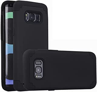 For samsung galaxy s8 Case, iBarbe Protective Dual Layer 2 in 1 Reinforced Flexible Soft rubber Silicone + Hard Plastic PC Shock-Proof Bumper Scratch-Resistant Shell corver (black)