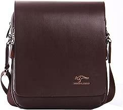 kangaroo leather messenger bag