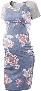 Women's Baseball Raglan Short Sleeve Maternity Dress Bodycon Dress Pregnancy Clothes