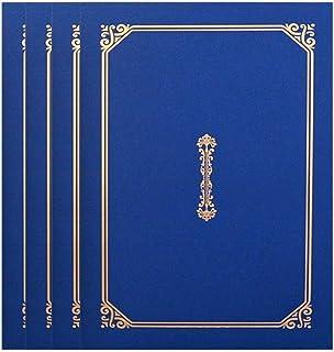 TOYANDONA Lot de 4 porte-certificats pour diplômes A4 Bleu marine 30,5 x 22,5 cm