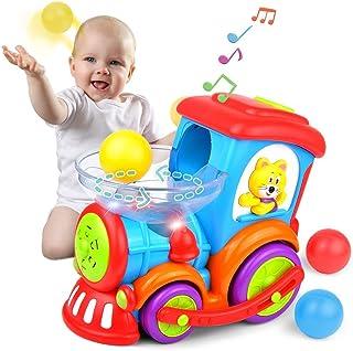 Kidpal Baby Toy Juguetes educativos para niños y niñas de 1, 2, 3 años de edad: luz, música, persecución, bola de popper, juguete de bebé de 12, 16, 18, 24 meses de edad; centro de actividades en tren infantil.