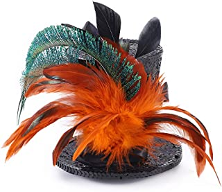 AMAGOOD Mini Top Hat Feather Fascinator Cocktail