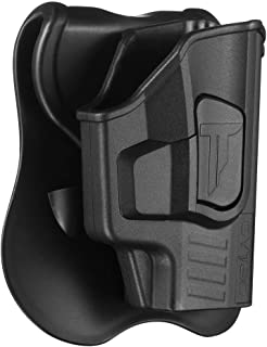 Sig P365 Holsters, OWB Holster for Sig Sauer P365 Micro-Compact Size 9mm Pistol W/O Light or Laser, Polymer Tactical Outside The Waistband Carry Belt Holster with 360° Adjustable Paddle -Right Handed