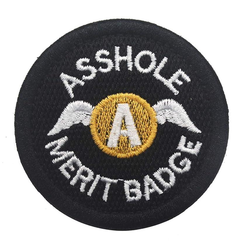 ShowPlus Asshole Merit Badge Morale Tactical Embroidered Patch (Black)