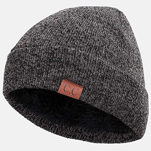 Mischfarben-Strickmütze-Buchstabe-warme Winter-Korallen-Samt-beiläufige Beanies Weiche Unisex-Skullies-Beanies Solider Hip-Hop-Hut