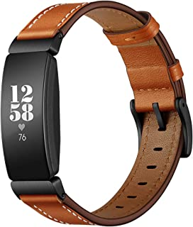 BarRan Watchband Replacement for Fitbit Inspire & Inspire HR, Fashion PU Leather Adjustable Quick Release Watch Strap with Connectors Replacement for Fitbit Inspire & Fitbit Inspire HR