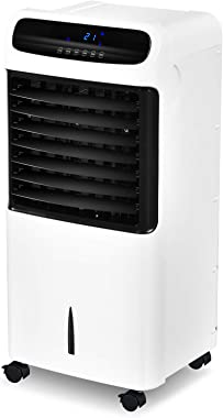 4-in-1 Portable Evaporative Cooler Quiet Air Cooling Ice Fan with 3 Wind Modes,3 Speeds 12H Timer, Remote Control, Air Condit