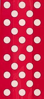 Red Polka Dot Cellophane Bags, 20ct