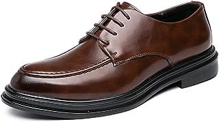 Zapatos casuales Zapatos de Oxford para hombre, cordones formales y tacones altos de cuero sintético de la plataforma, zap...