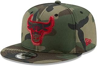 New Era Chicago Bulls 9FIFTY Overspray Snapback Cap NBA, Hat Camo Adjustable