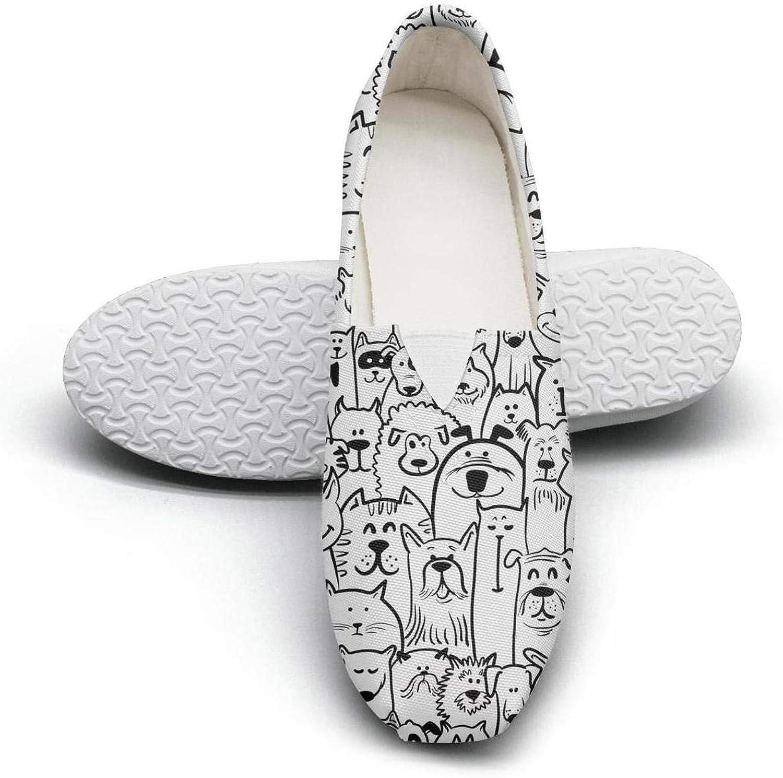Erdoxo Dalmatian Puppy Dog Skin Women Classic Canvas Sneakers Low Cut Non-Slip wear-Resistant Rubber Sole Tennis shoes