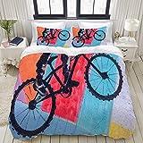 LISNIANY Bettwäsche Set, Mikrofaser,Modern,schöne Street Art Graffiti abstrakte Farbe, 1 Bettbezug 200 x 200cm + 2 Kopfkissenbezug 80x80cm