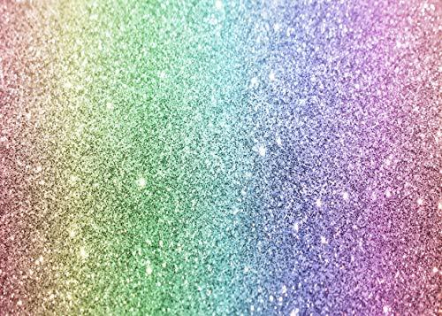 AIIKES 7x5FT Rainbow Glitter Cumpleaños Telón De Fondo Dreamy Baby Kids Girl Fiesta De Cumpleaños Fotografía Fondo Recién Nacido Ducha Decoración Fondo Pastel Mesa Banner Photo Studio Props 11-600