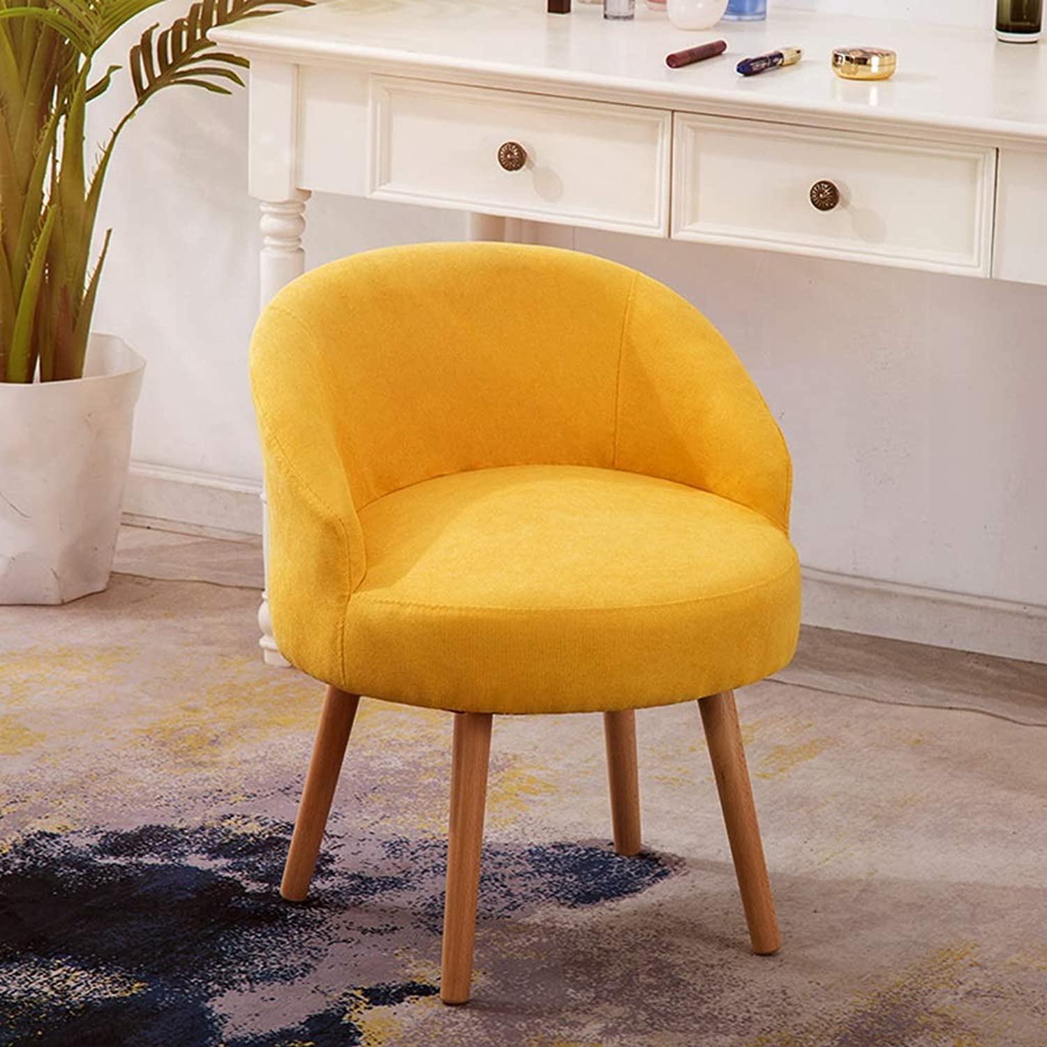 YJWOZ Yellow Green bluee Pink Fabric Chair Restaurant Cafe Multifunctional Sofa Chair Sitting Height 45cm7 color Optional Chair (color   A)