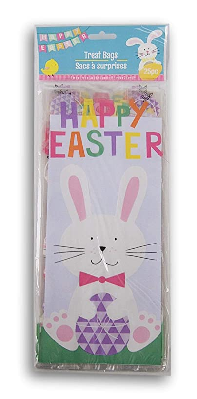 Easter Themed Loot Treat Bags - Happy Easter - 25 Count