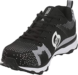 Safety Toe Athletic Shoes - Trainer Style, Steel Toe Slip Resistant Sneakers