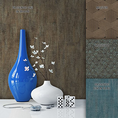 NEWROOM Tapete Braun Stoff Struktur Uni Vliestapete Vlies moderne Design Optik Tapete Einfarbig Unifarben inkl. Tapezier Ratgeber