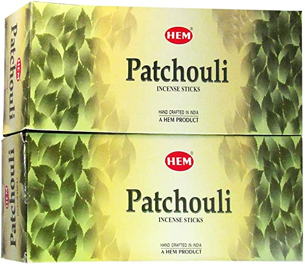 Hem Patchouli Agarbatti Pack Of 12 Incense Sticks Boxes 20gms Each Traditionally Handrolled In India Aeromatic Natural Fragrance For Prayers Meditation Yoga Relaxation Peace Healing Posotivity