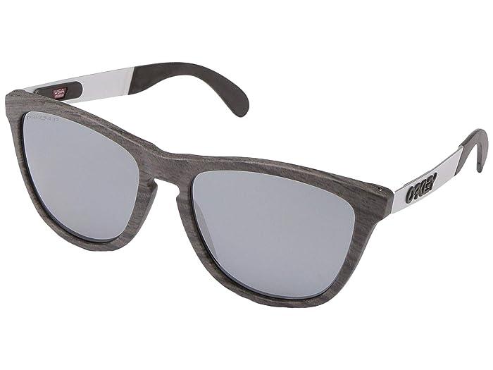 Oakley Frogskin Mix (Woodgrain w/ PRIZM Black Polarized) Fashion Sunglasses