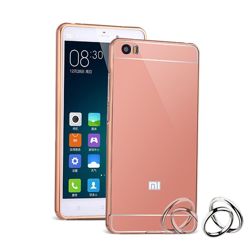 HICASER Duro Híbrido Carcasa para Xiaomi Mi 5 Mi5 Bumper Case del Metal Aluminio + PC Ultrafina Espejo Efecto Trasero Funda Cover Rosa: Amazon.es: Electrónica