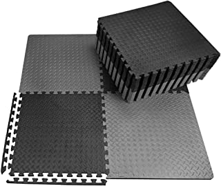 100 SQ FT EVA Foam Floor Mat Set Interlocking Puzzle Large Tile Gym  Custom Gray