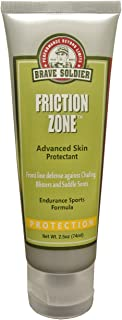 Brave Soldier Friction Zone - 2.5 oz Tube - Water & Sweat Resistant, Anti-Chafing Skin Protection, Rash Guard for Men and Women, Wetsuit Safe