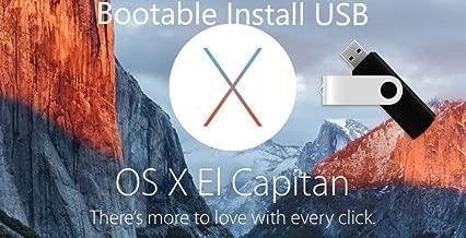 Mac OS X El Capitan Boot Install Disk USB 8GB