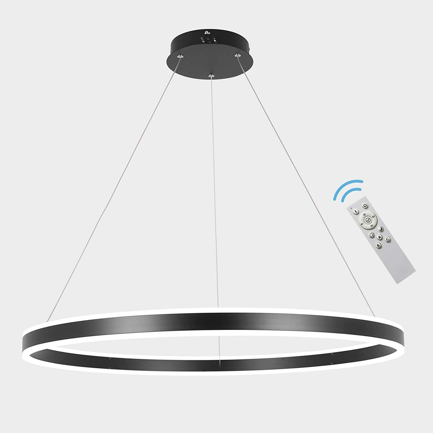 AKEELIGHTING lowest price Excellent Contemporary Led Chandeliers Black Dimmable Pendant