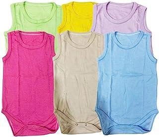 Set of 6 units Bodysuits Cut Multicolor