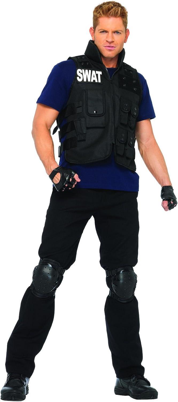 KULTFAKTOR GmbH SWAT Offizier Kostüm schwarz-blau M B011QDLKFI Moderne und stilvolle Mode  | Hohe Qualität