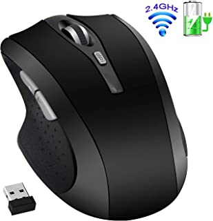 2.4G Wireless Silent Rechargeable Mouse - Tsmine Noiseless Mouse with Nano Receiver(Stored Within The Back of The Mouse),3...