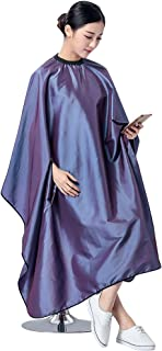 Lzttyee Hairdressing Hair Cut Cutting Cape Cloth Waterproof Salon Barbers Gown with Stretch Out Hand Design (Purple)