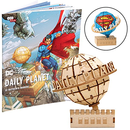 DC Comics Superman Daily Planet Book & Wood Model Figure Kit...